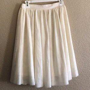 White tulle skirt